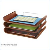 Safco Bamboo Triple Tray in Cherry