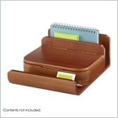 Safco Bamboo Small Organizer in Cherry (Set of 4)