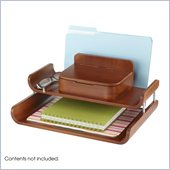 Safco Bamboo Deluxe Organizer in Cherry