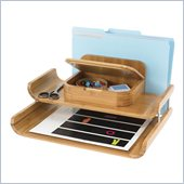 Safco Bamboo Deluxe Organizer in Natural