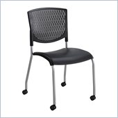 Safco Vio Guest Chair in Black (Set of 2)