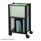 Safco Impromptu® Mobile Storage Center in Cherry & Black