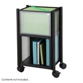 Safco Impromptu Mobile Storage Center in Cherry & Black