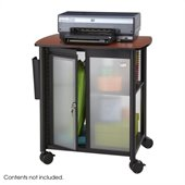 Safco Impromptu Personal Mobile Storage Center in Cherry & Black