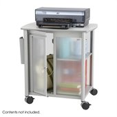 Safco Impromptu Personal Mobile Storage Center in Metallic Gray