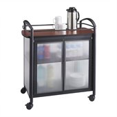Safco Impromptu® Refreshment Cart in Cherry & Black