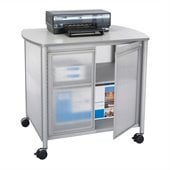Safco Impromptu Deluxe Machine Stand with Doors in Gray