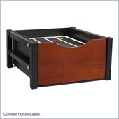 Safco Double Drawer Flipper Cabinet Organizer in Cherry