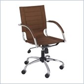 Safco Flaunt Managers Chair Brown Micro Fiber in Brown