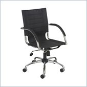 Safco Flaunt Managers Chair Black Micro Fiber in Black