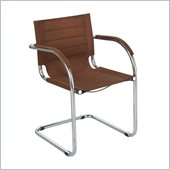 Safco Flaunt Guest Chair Brown Micro Fiber in Brown