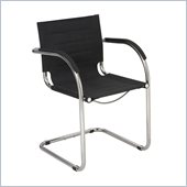 Safco Flaunt Guest Chair Black Micro Fiber in Black