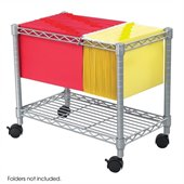 Safco Wire Mobile File Cart in Grey