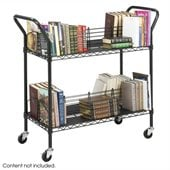 Safco Wire Book Cart in Black