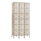 Safco Box Locker 3 Column in Tan