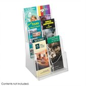 Safco Acrylic 3 Pocket Magazine Display
