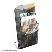 Safco Onyx Mesh 4 Pocket Magazine Rack