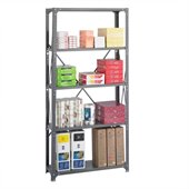 Safco 36 x 12 Commercial 5 Shelf Kit in Dark Grey Finish