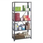 Safco 36 x 18 Commercial 5 Shelf Kit in Dark Grey Finish