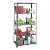 Safco 36 x 24 Commercial 5 Shelf Kit in Dark Grey Finish