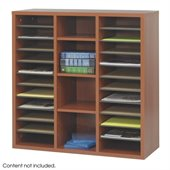 Safco Apres Modular Storage Literature Organizer in Cherry