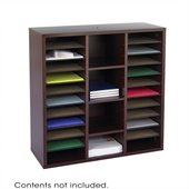 Safco Apres Modular Storage Literature Organizer in Mahogany