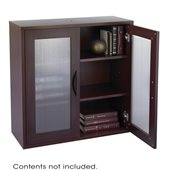 Safco Apres Modular Storage 2 Door Cabinet in Mahogany