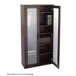 Safco Apres Modular Storage Tall Cabinet in Mahogany