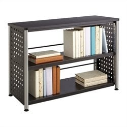 Safco Scoot 2 Shelf Bookcase in Black
