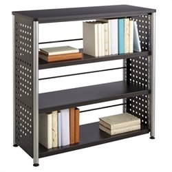 Safco Scoot 3 Shelf Bookcase in Black