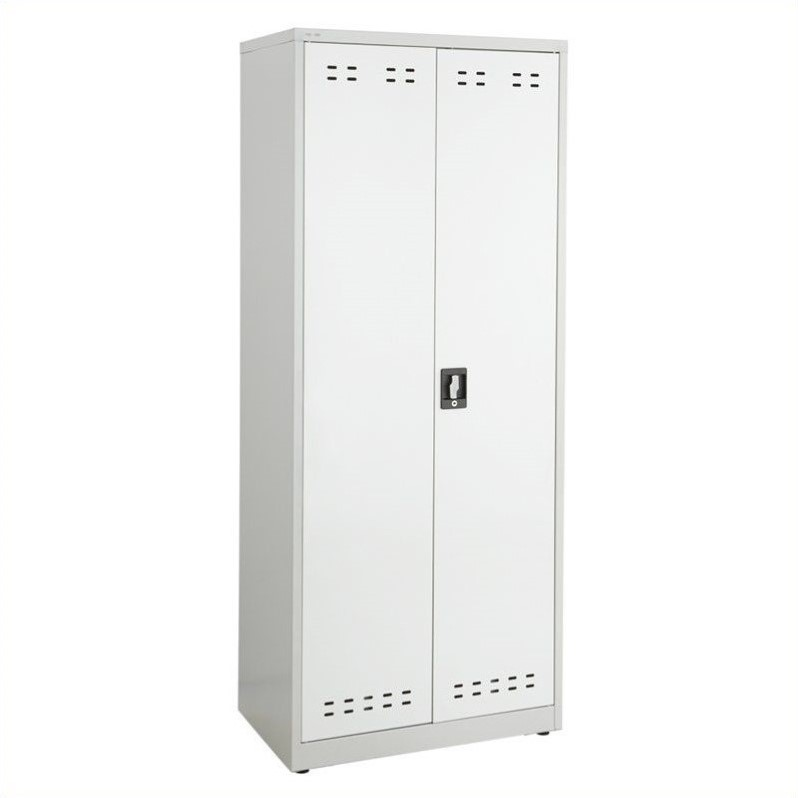 Safco 72H Steel Storage Cabinet in Gray
