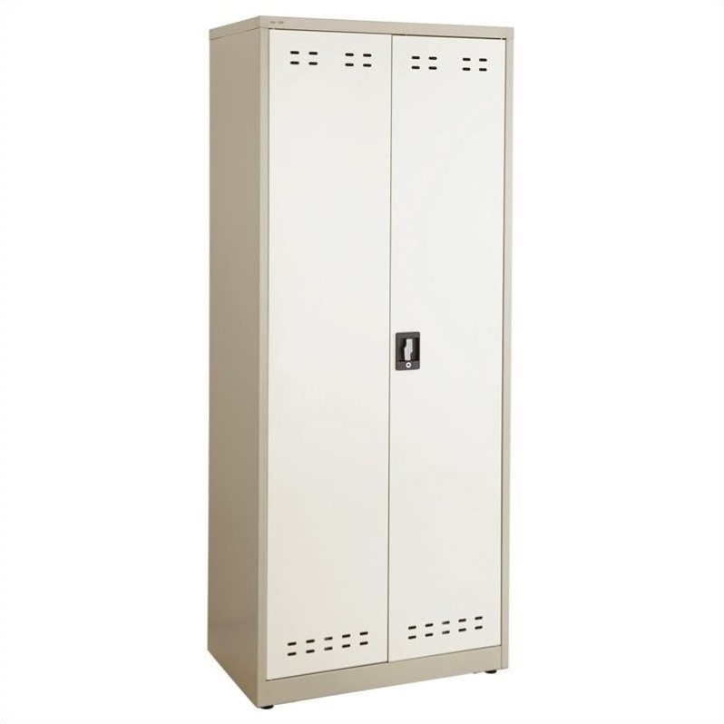 Safco 72H Steel Storage Cabinet in Tan