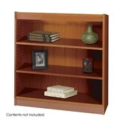 Safco WorkSpace 36H Three Shelf Square-Edge Bookcase in Cherry