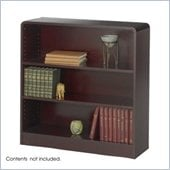 Safco WorkSpace Three Shelf Radius Edge Bookcase in Mahogany