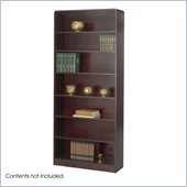 Safco WorkSpace Seven Shelf Radius Edge Bookcase in Mahogany
