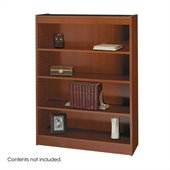 Safco WorkSpace 48H Four Shelf Square-Edge Bookcase in Cherry