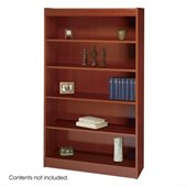 Safco WorkSpace 60H Five Shelf Square-Edge Bookcase in Cherry