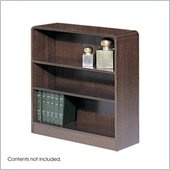 Safco WorkSpace Four Shelf Radius Edge Bookcase in Mahogany