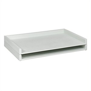 Safco Giant Stack Plastic FileTray in White (Set of 2)