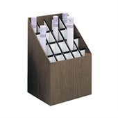 Safco Upright 20 Compartment Wood/Fiberboard Roll Files in Walnut