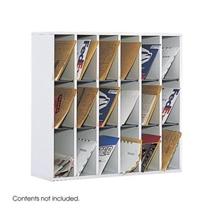 Safco Wood 18 Compartment Mail Organizer