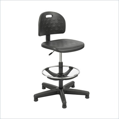 Safco Economy Workbench Chair in Black