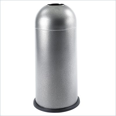 Safco Black Speckle Open Top Dome Receptacle in Black Speckle