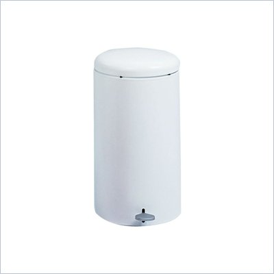 Safco 7 Gallon Round Step-On Receptacle in White