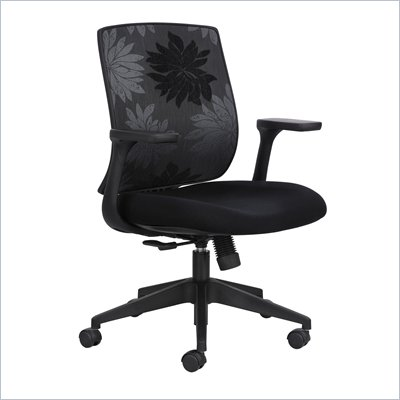 Safco Bliss Mid Back Chair in Black Print