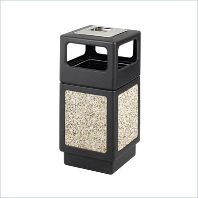 Safco Canmeleon Series Outdoor Aggregate Panel Side Opening Receptacle with Urn (Large)