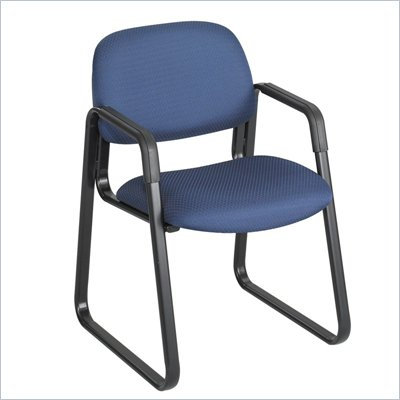 Safco Cava Sled Base Guest Chair in Blue
