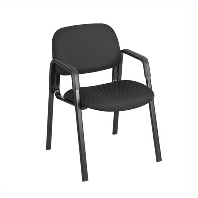 Safco Cava Straight Leg Stacking Chair in Black