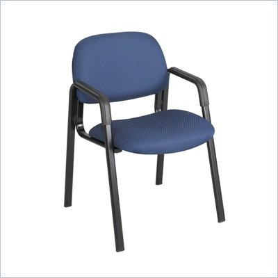 Safco Cava Straight Leg Stacking Chair in Blue