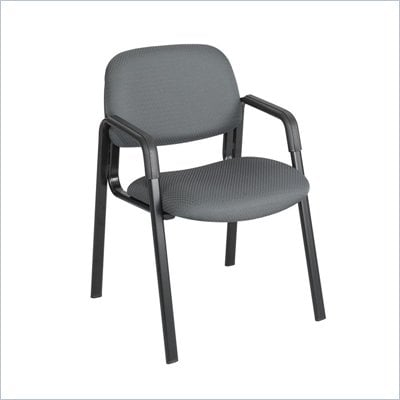 Safco Cava Straight Leg Stacking Chair in Charcoal